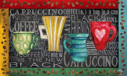 Coffee of the Day by Elizabeth Medley art print