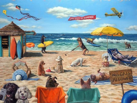 Dog Beach by Lucia Heffernan art print