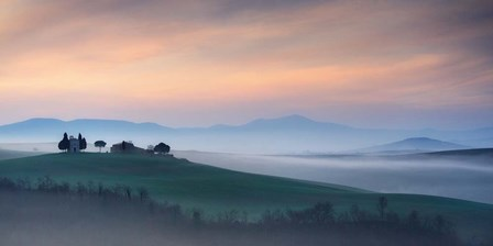 Capella di Vitaleta at Dawn - Tuscany I by Andy Mumford art print