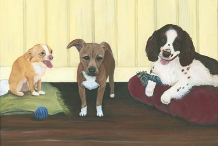 Three Pups by Dina Marie art print