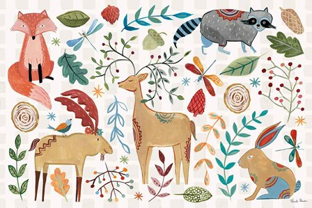 Whimsical Woodland I by Farida Zaman art print