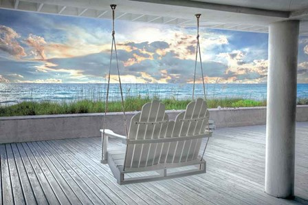 Swing At The Beach by Celebrate Life Gallery art print