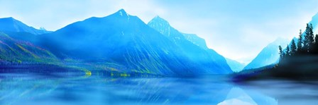 Mountainscape Panorama II by James McLoughlin art print