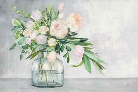 Blushing Spring Bouquet by Julia Purinton art print