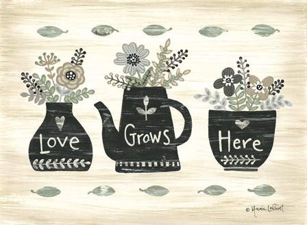 Love Grows Here by Annie Lapoint art print