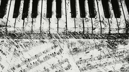 Black & White Piano Keys by Dan Meneely art print