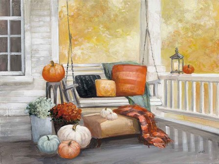 October Porch by Julia Purinton art print