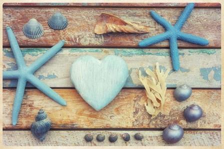 Beach Memories I by Cora Niele art print