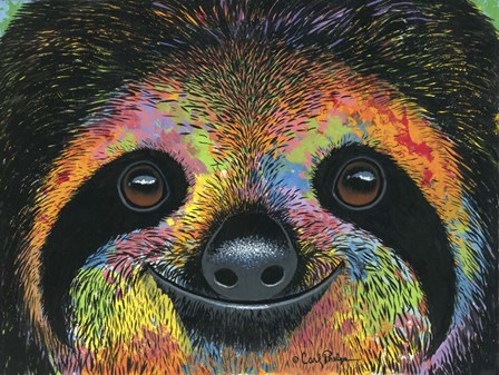 Slothy Eyes by Carl Phelps art print