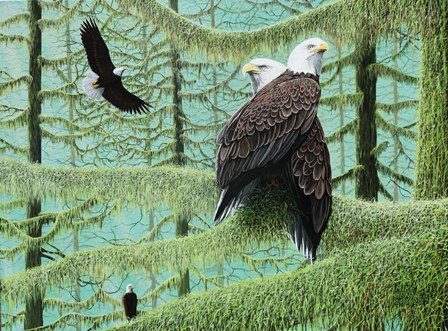 A Gathering of Eagles by Mike Bennett art print