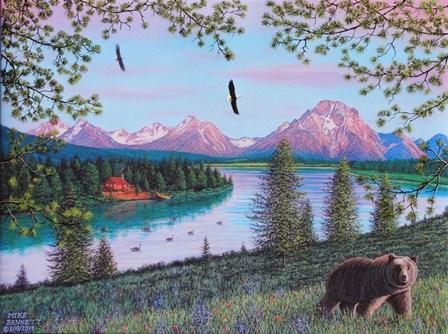 Teton Majesty by Mike Bennett art print