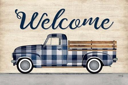 Welcome Truck by Marla Rae art print