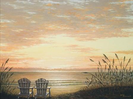 Sunset Chairs by Bruce Nawrocke art print
