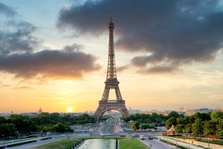 Eiffel Tower Sunset by Alan Blaustein art print