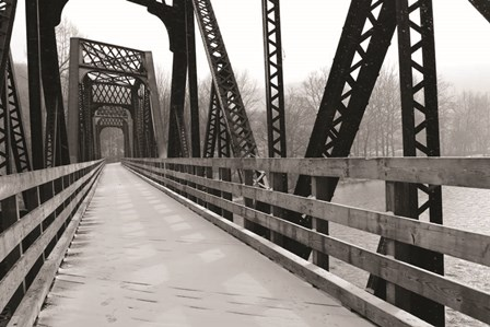 Old Railroad Bridge by Lori Deiter art print