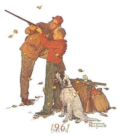 Careful Aim by Norman Rockwell art print