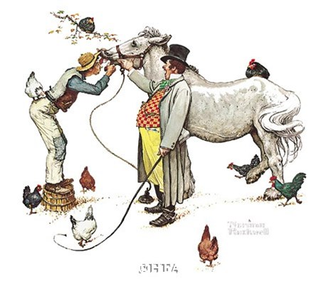 Horse Trader by Norman Rockwell art print
