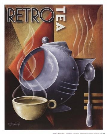 Retro Tea by Michael Kungl art print