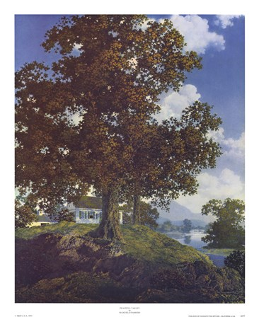 Peaceful Valley by Maxfield Parrish art print