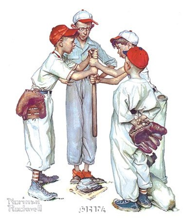 Choosin' Up by Norman Rockwell art print