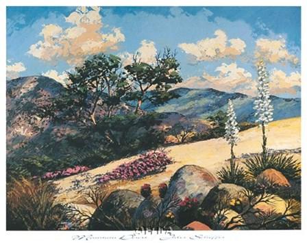 Mountain Desert by Jules Scheffer art print