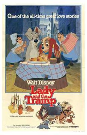 Lady and the Tramp Great All-time Love Story art print
