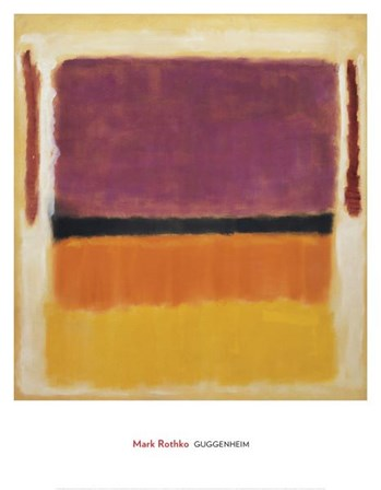 Untitled (Violet, Black, Orange, Yellow on White and Red), 1949 by Mark Rothko art print