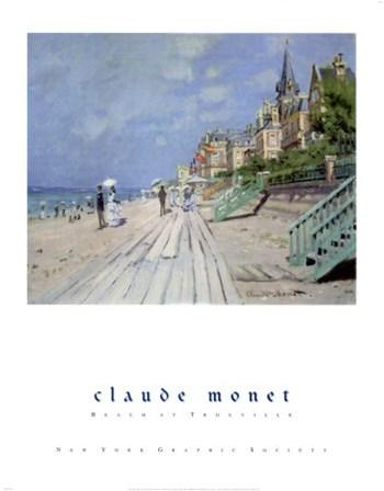 Beach at Trouville, c.1870 by Claude Monet art print