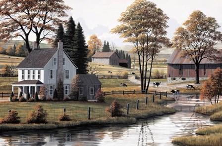 Autumn Grazing by Bill Saunders art print