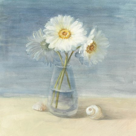 Daisies and Shells by Danhui Nai art print
