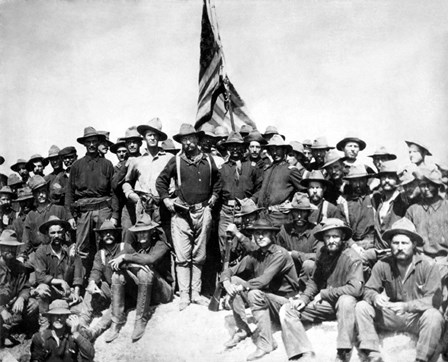 Colonel Theodore Roosevelt and The Rough Riders by John Parrot/Stocktrek Images art print