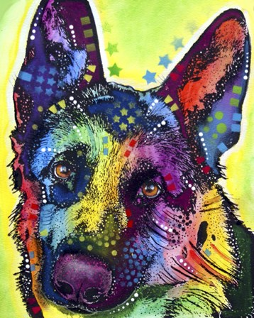 German Shepherd 1 by Dean Russo art print