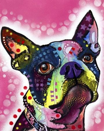 Boston Terrier by Dean Russo art print