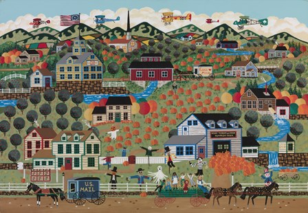 Noah's Pumpkin Farm by Anthony Kleem art print