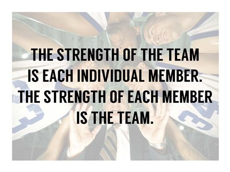 The Strength of the Team by Sports Mania art print