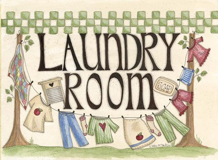 Laundry Room by Debbie McMaster art print