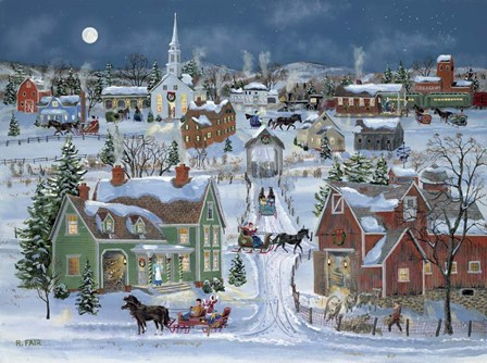 Christmas Homecoming by Bob Fair art print