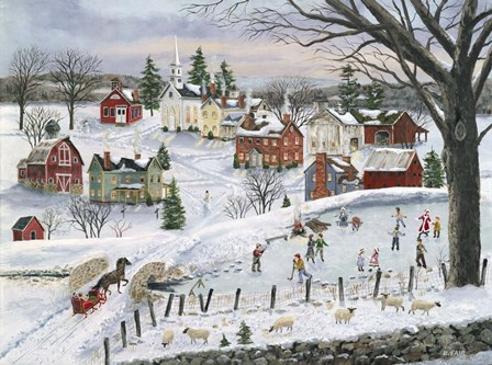 The Red Sleigh by Bob Fair art print