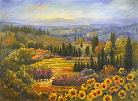 Tuscan Countryside by Rosanne Kaloustian art print