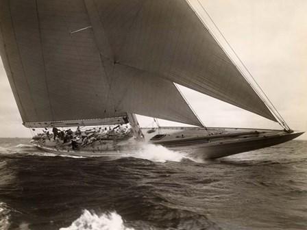 J Class Sailboat, 1934 by Edwin Levick art print