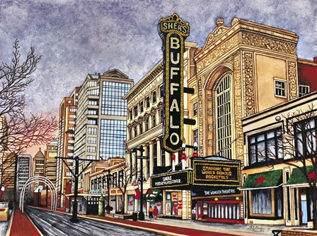Shea's Buffalo, Buffalo Ny by Thelma Winter art print