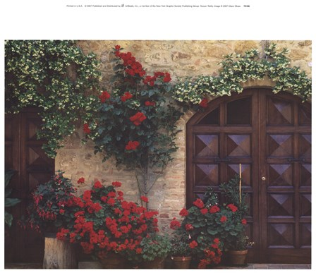 Tuscan Trellis by Alison Shaw art print