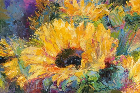 Blue Sunflowers by Richard Wallich art print