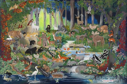 With St. Francis #1 - Forest Glade by Carol Salas art print