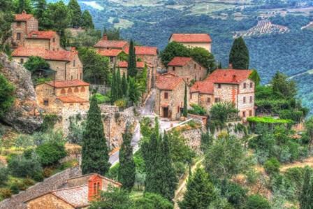 Tuscan Hilltop Town by Robert Goldwitz art print