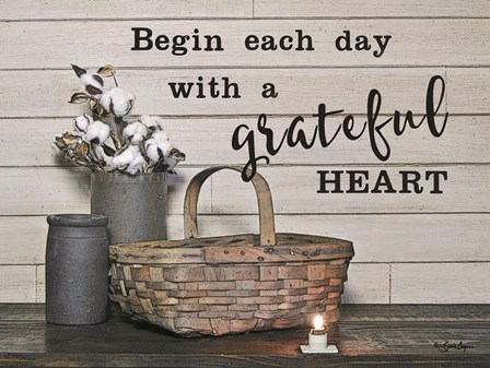 Begin Each Day with a Grateful Heart by Susie Boyer art print