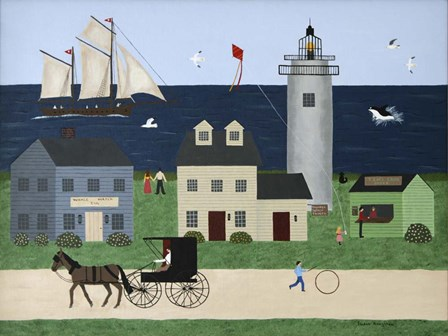 Summer in New England by Susan C Houghton art print